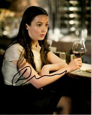 LAURA DONNELLY signed BEAUTIFUL 8x10 DRINKING WINE w/ uacc rd coa THE FALL proof