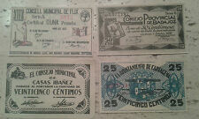 Used - LOTE DE CUATRO RECORTES DE PERIÓDICO DE BILLETES DE 1937 - Usado