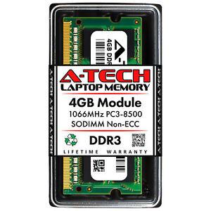 A-Tech 4GB PC3-8500 Laptop SODIMM DDR3 1066 MHz Notebook Memory RAM 1067 1 1x 4G