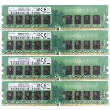 For Samsung 64GB 4X16GB 2Rx8 PC4-2400T PC4-19200E ECC Unbuffered DIMM Memory