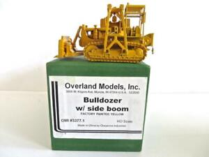 HO Gauge Brass Overland Models Factory Painted Bulldozer NEW with Side Boom