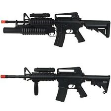 High Power M4 Airsoft Auto Electric Gun Two Style Change & M203 Grenade Launcher