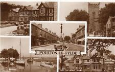 Poulton Le Fylde Multi View RP pc used 1957 Valentines