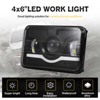 4x6inch Rectangular Projector LED Headlights Bulbs High Low Beam DRL Lamp