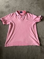 Mens Fred Perry Summer Short Sleeve Polo Shirt Pink Brown Grey Collar Cuff Large