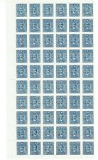 China 1944 $2 blue SYS (paicheng Ptg) part sheet of 60 - as per scan