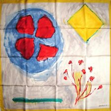 LOUIS VUITTON 2007 Twill carre tusch foulard scarf by Alberto GIACOMETTI Rare !