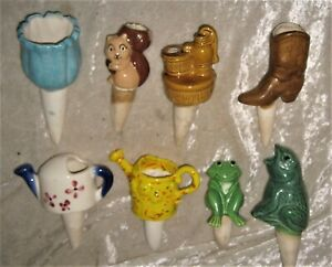 8x Decorative Home Decor 1970's PLANT WATERING SPIKES