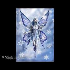 *SNOWFLAKE FAIRY* Anne Stokes Fantasy Art Blank Christmas Card (AN10)