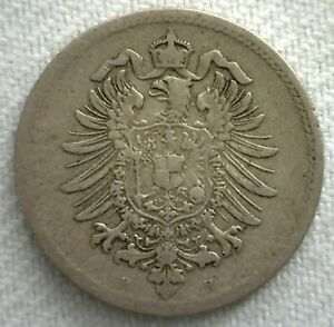 1876 H Germany 10 Pfennig Copper Nickel Coin You Grade Coin