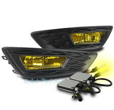 15-17 FORD FOCUS S SE BUMPER DRIVING FOG LIGHTS LAMP YELLOW W/3K XENON HID+BEZEL