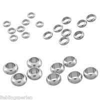 L/P: 50 Edelstahl Perlen Beads Quetschkugeln Quetschperlen Schmuckteile M4733