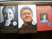 bill clinton, hillary clinton, monica lewinsky, signed books