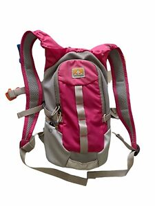 Nathan Seeker 1.5L Hydration Running Vest Backpack Bladder Pink Gray Cycling