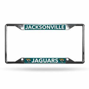 Jacksonville Jaguars Lightweight Chrome Metal License Plate Frame