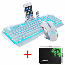 UK Echnology Manba Snake M398 Wired Usb Pro Gaming Keyboard And Mouse Set  White
