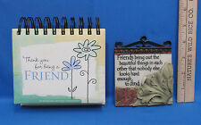 Friend Wall Plaque & Inspirational Dayspring Thank You For Being A Friend Book
