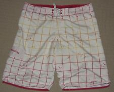 Mens Aeropostale Board Beach Surf Swim Suit Long Shorts Trunk Sz: 36 White Red
