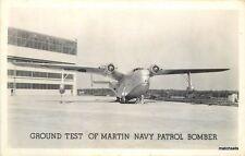 1940s WW2 Military Aircraft Martin Navy Patrol Bomber RPPC real photo  6662