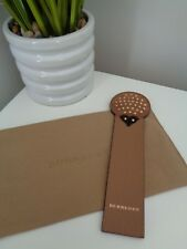 BNWoT Authentic BURBERRY Suede Leather Studded Hedgehog Bookmark - Reduced