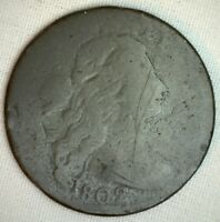 1802 Draped Bust Copper Large Cent Early Penny Type US Coin Good Circulated 1c