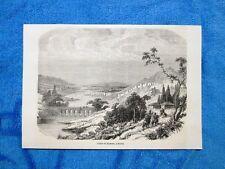 Gravure Année 1862 - Cours du Pyrame,Missis(Turquie) - Corso del Piramo,Tkish