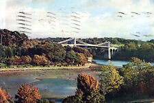 England - The  Menai Straits Suspension Bridge - Anglesey Island to Wales - 1960