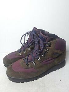 Merrell Monarch Women's Sz 10 Suede Air Cushion Hiking Shoes Boots Brown Purple