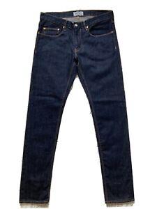 New WESC W32 L32 Alessandra Regular Rise Slim Leg Dark Blue Denim Jeans. Classi