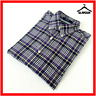 GANT Mens Check Shirt Blue Purple S Small Fall Twill Long Sleeve Regular Fit