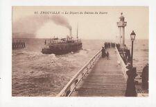 Trouville Depart du Bateau du Havre Vintage Postcard France 345a ^