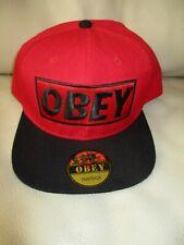 OBEY Men's Ladies BOYS Girls SNAP BACK Adjustable CAP Unisex Hat RED BLACK