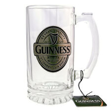 Guinness Glass Tankard/Stein with Pewter Badge Logo 2650