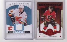 JOHNNY GAUDREAU 2015-16 ARTIFACTS YEAR ONE ROOKIE SWEATERS JERSEY & RUBY SP/399