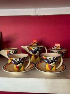 Art Deco Style 5 piece Moorland Chelsea Works TeaSet