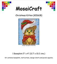 """Mosaicraft Pixel Craft Art Mosaïque Kit """"Christmas Kitten 'pixelhobby"""