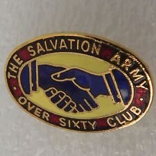 Enamel pin badge vintage Salvation Army Over Sixty Club Church Old People 60+