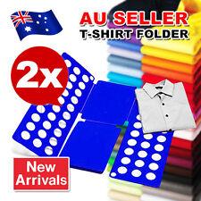 2x Clothes Folder Large Adult Magic Fast T-shirts Laundry Storage Folding Board