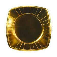160 goldene Pappteller eckig 20 cm Einwegteller Weihnachten Party Deko