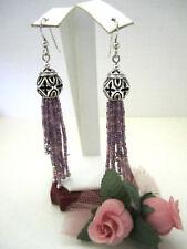 "Brighton ""BOHO ROOTS"" Purple Tassel French Wire Earrings (MSR$58) NWT/Tin"