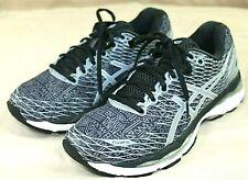 ASICS GEL NIMBUS 18 FLUID RIDE mens athletic shoes size 7.5 m black & gray