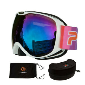 Anti-fog Coat Kids Childs Snowboard Double Layers Eye UV Protection Snow Goggles