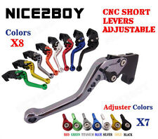 Adjustable CNC Short Brake Clutch Levers For 2005 2006 Suzuki GSF650 BANDIT