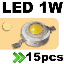 533/15# LED 1W Blanc chaud --- 15pcs