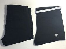 2 Set - Womens Shorts Size 6 H & M Black Denim & Live Love Dream Yoga/Sports L