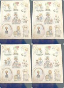 1989 Vtg Stickers LOT New Old Stock 36 Precious Moments 4 Sheets SJB Asst New