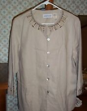 Womens Alfred Dunner Button down Blouse size L