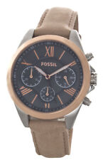 Fossil Vintage Muse Grey Dial Tan Leather Strap Women's Watch BQ3168