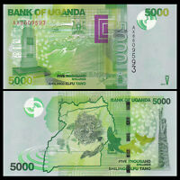 Uganda 5000 (5,000) Shillings, 2015, P-NEW, UNC