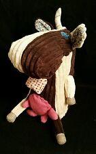 Cow Stuffed Plush Animal Toy Patchwork Corduroy Original Les Deglingos Milkos